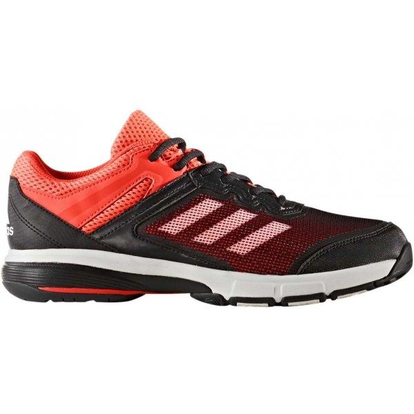 Černo-červené pánské boty na házenou Adidas