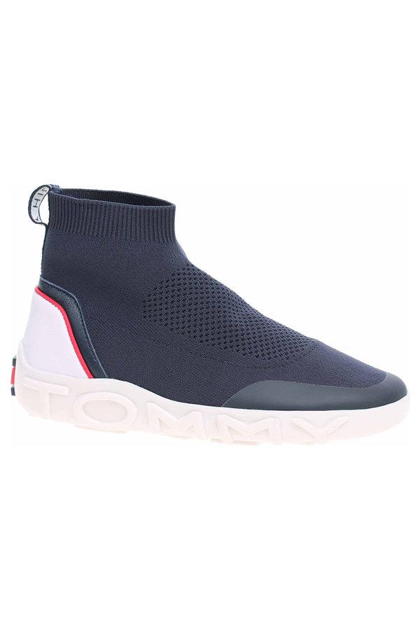 Modré dámské kotníkové boty Tommy Hilfiger - velikost 37 EU
