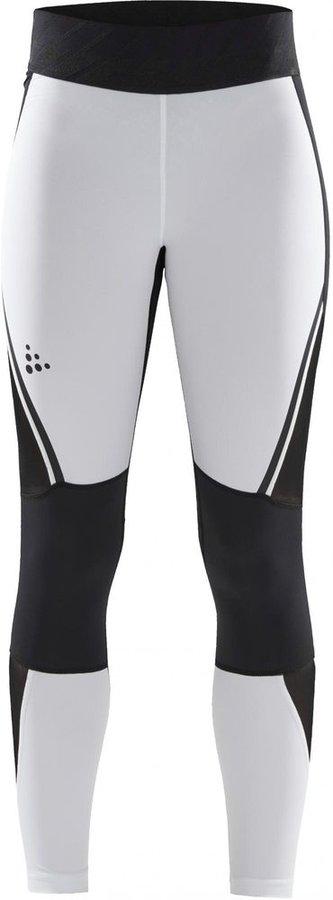 Bílo-černé dámské běžecké legíny Craft - velikost M