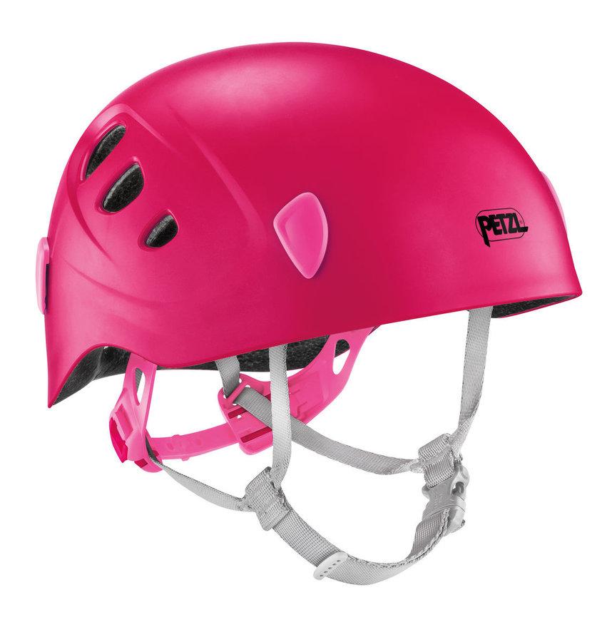 Růžová dívčí horolezecká helma Petzl - velikost 48-54 cm