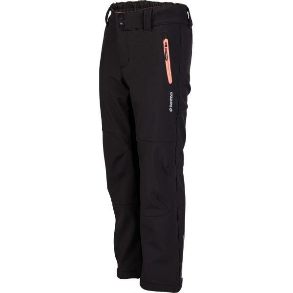 Černé softshellové dámské kalhoty Lotto - velikost 116