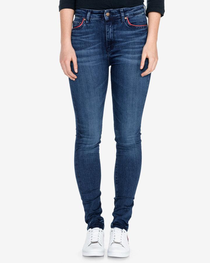 Modré dámské džíny Tommy Hilfiger - velikost 27