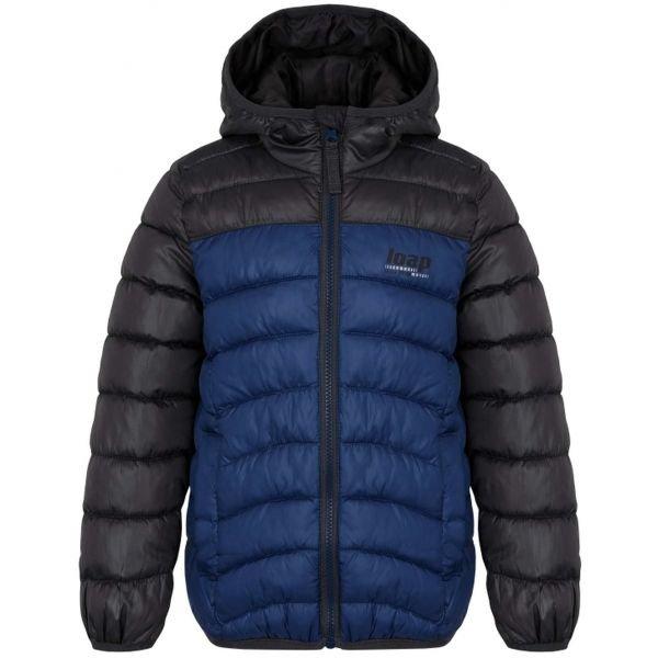 Černo-modrá dětská bunda Loap