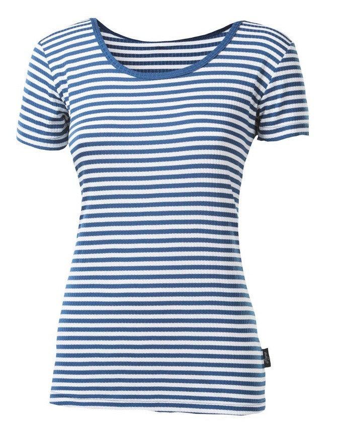 Modré dámské funkční tričko s krátkým rukávem Progress - velikost L