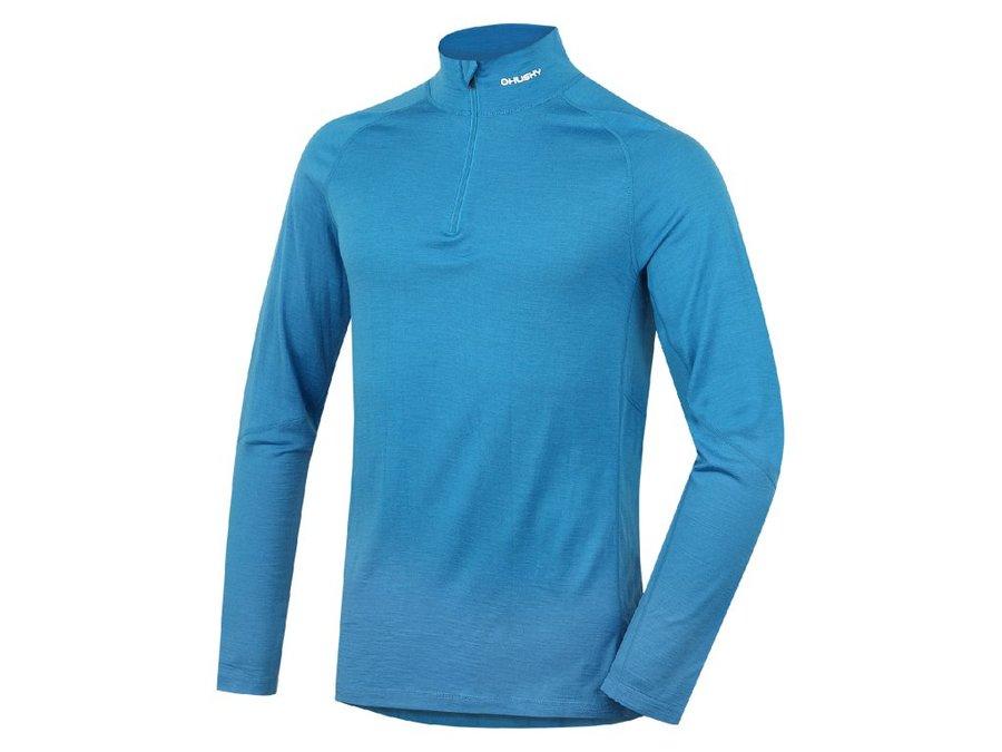 Modré termo pánské termo tričko s dlouhým rukávem Husky - velikost XL