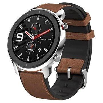 Černo-hnědé chytré hodinky Amazfit GTR Stainless Steel, Xiaomi