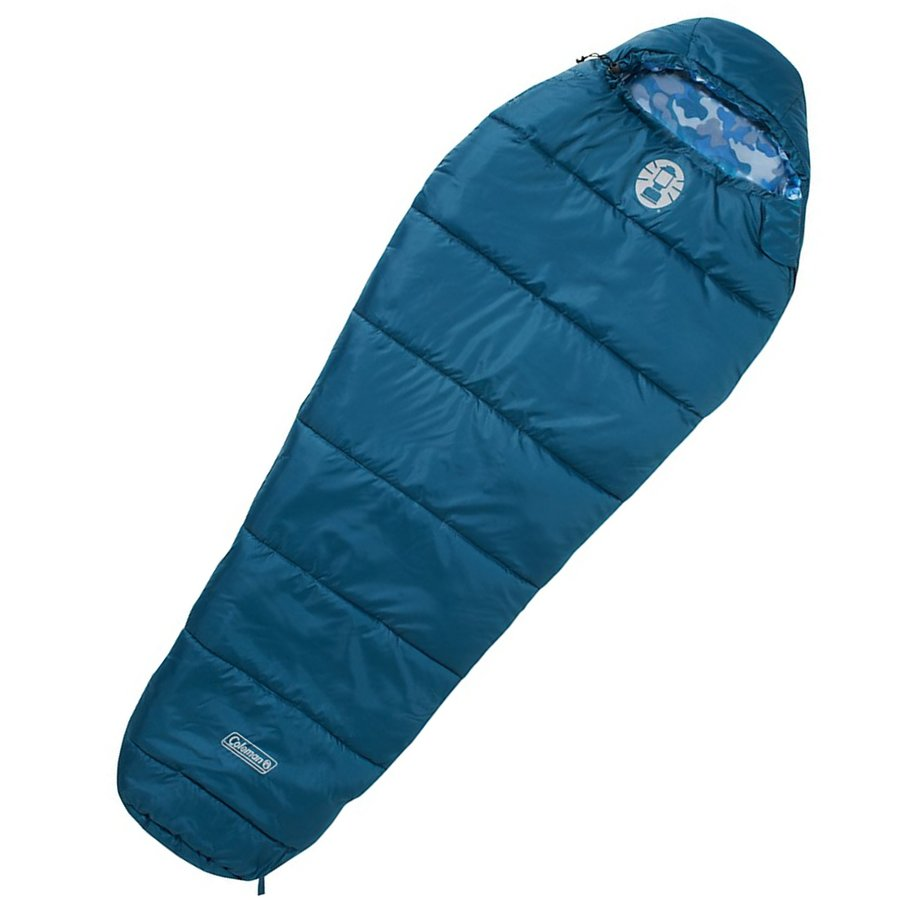 Modrý dětský spací pytel Frisco Mummy, Coleman - délka 170 cm