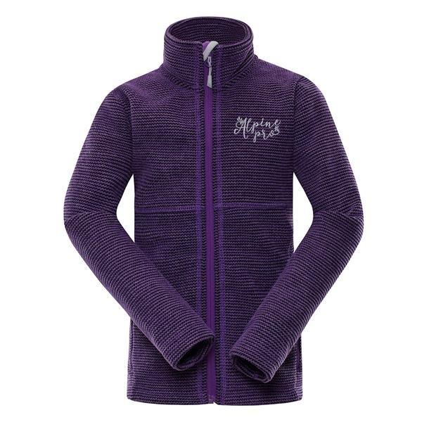 Fialový dětský turistický svetr Alpine Pro