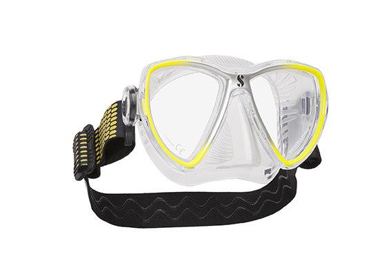 Potápěčská maska - Maska potápěčská Synergy Mini Scubapro - designová maska - žluto/stříbrná - čirá