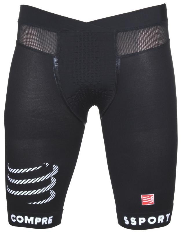 Černé dámské nebo pánské běžecké kraťasy CompresSport - velikost XL