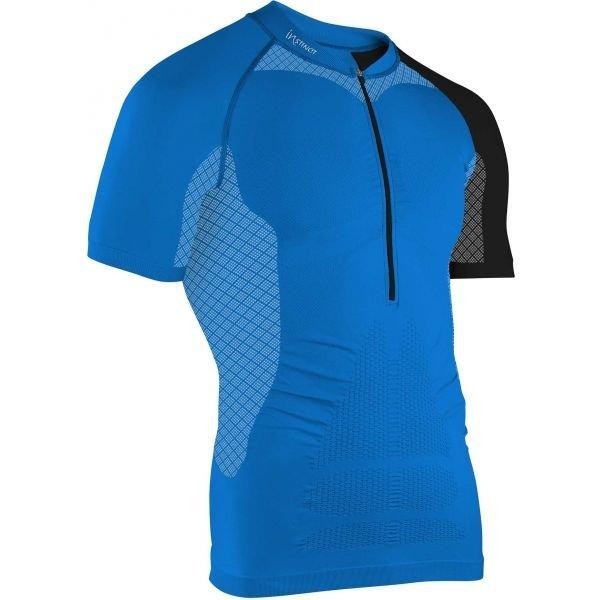 Modrý pánský běžecký dres s krátkým rukávem Instinct - velikost L-XL