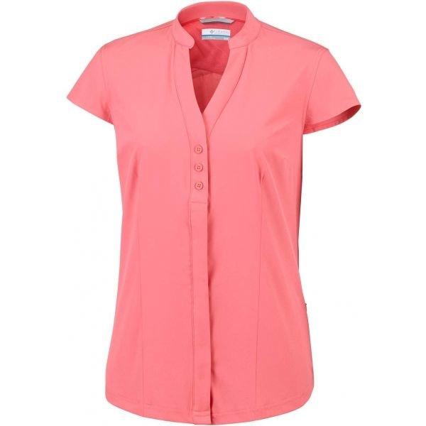 Růžová dámská košile s krátkým rukávem Columbia