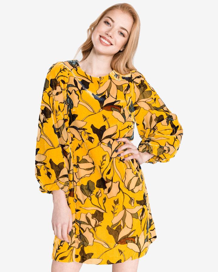 Žluté dámské šaty French Connection