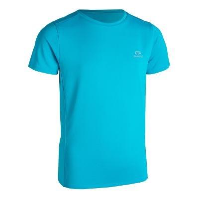 Tyrkysové dětské tričko na atletiku Kalenji