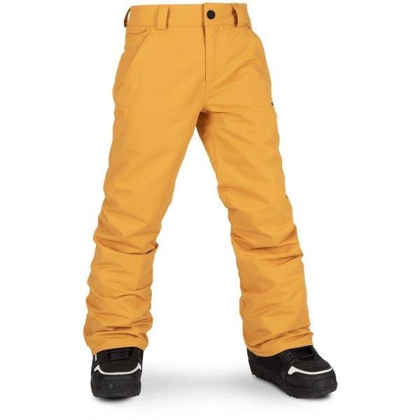 Oranžové chlapecké lyžařské kalhoty Volcom