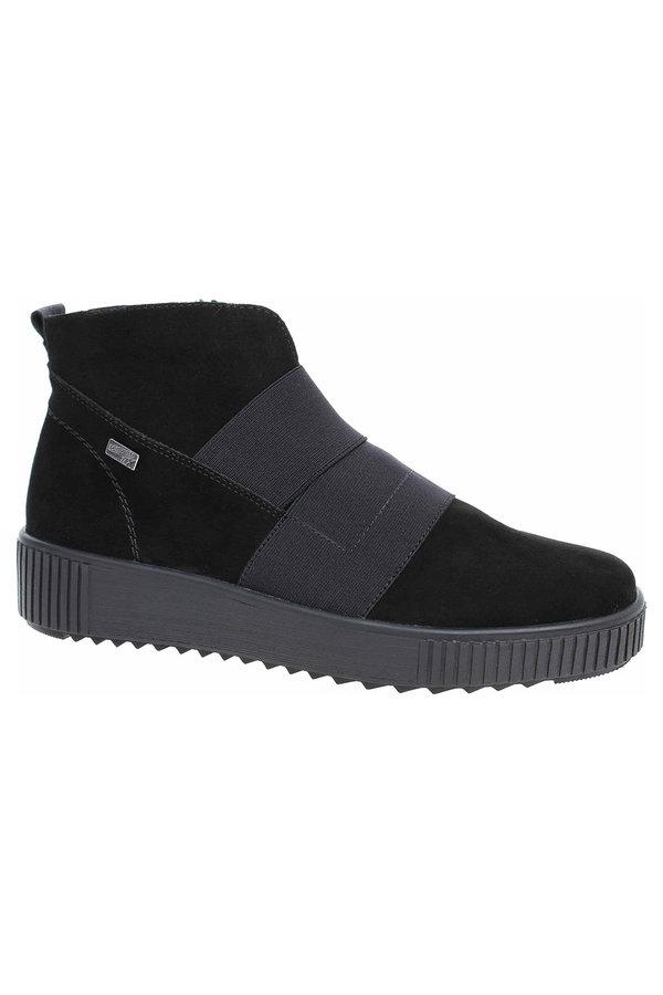 Černé dámské kotníkové boty Remonte - velikost 42 EU