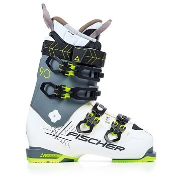 Bílo-šedé dámské lyžařské boty Fischer - velikost vnitřní stélky 25,5 cm