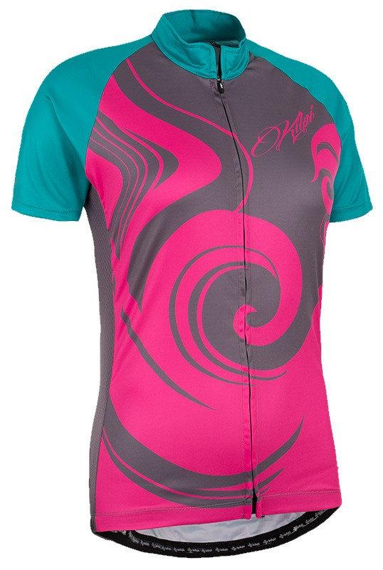 Růžový dámský cyklistický dres Kilpi - velikost XS