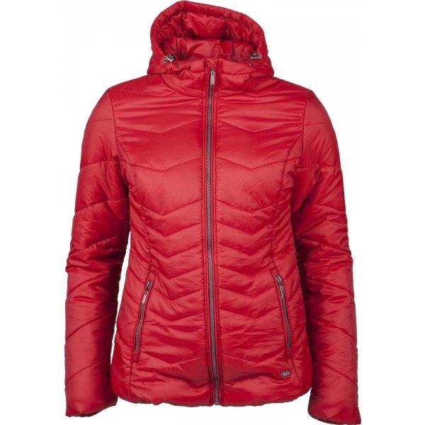 Červená dámská bunda Willard - velikost S