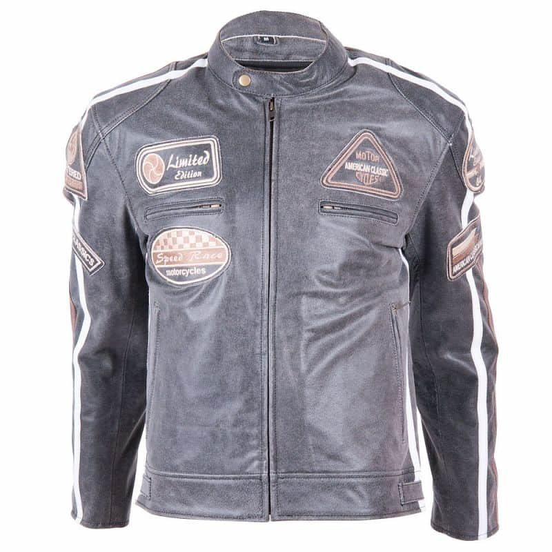 Šedá motorkářská bunda 2058, BOS - velikost S