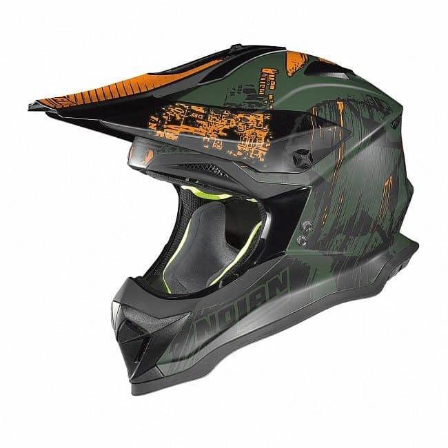 Zelená helma na motorku Nolan - velikost 63-64 cm