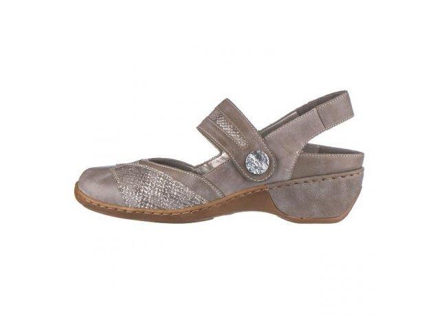 Šedé sandály RIEKER