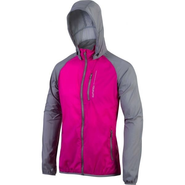 Růžovo-šedá dámská cyklistická bunda Klimatex - velikost S