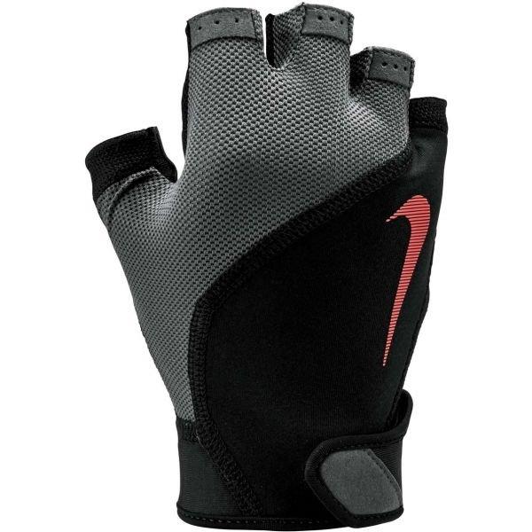 Černo-šedé pánské fitness rukavice Nike