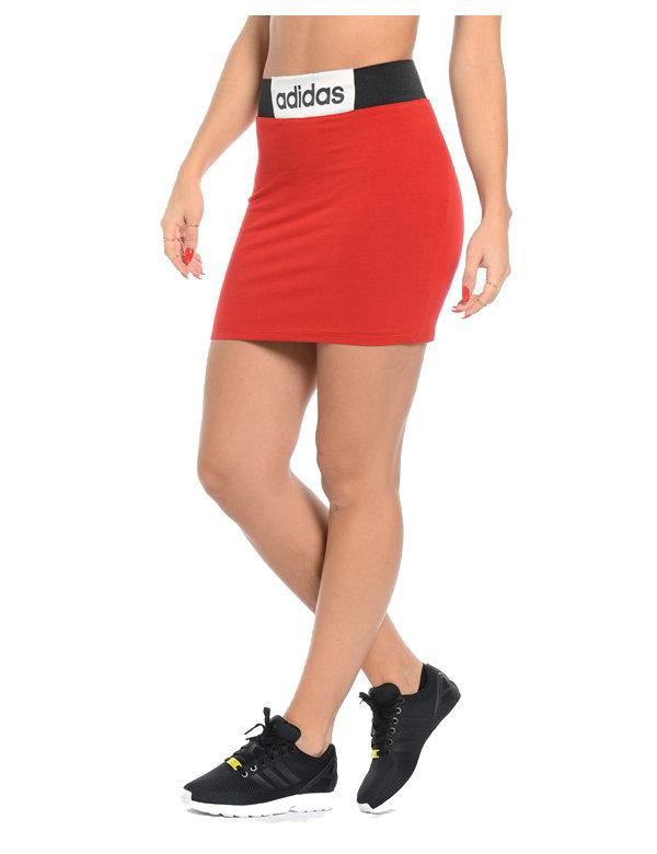 Červená dámská sukně Adidas - velikost XL