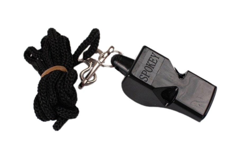 Píšťalka pro rozhodčího - Píšťalka plastová SPOKEY Mayday černá