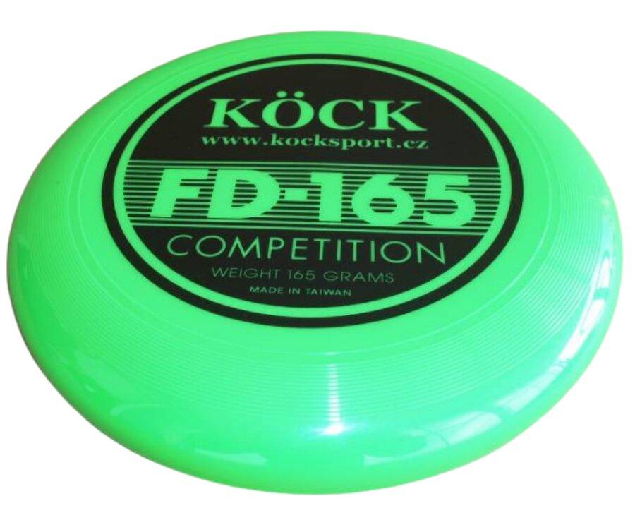 Zelené plastové frisbee Köck - průměr 28 cm