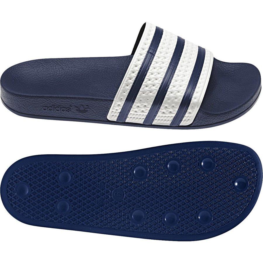 Modré pánské pantofle Adidas - velikost 36,5 EU