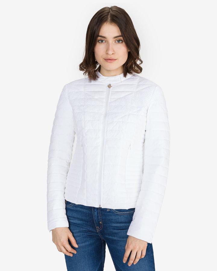 Bílá prošívaná dámská bunda Guess - velikost S