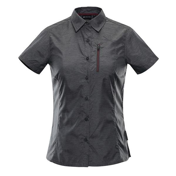 Černá dámská košile s krátkým rukávem Alpine Pro