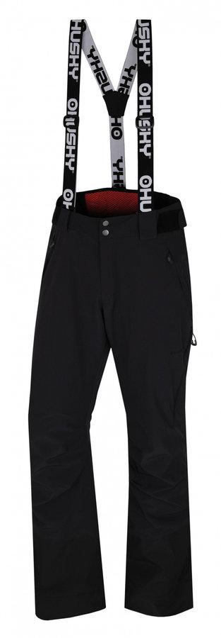 Černé pánské lyžařské kalhoty Husky - velikost L