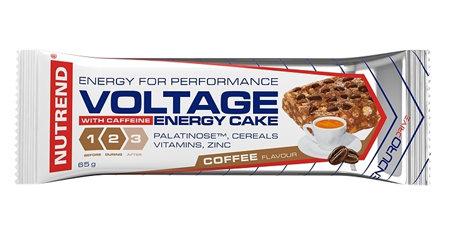 Energetická tyčinka - Nutrend Voltage Energy Cake + Caffeine 65 g káva