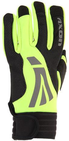 Černo-žluté zimní dámské běžecké rukavice Axon