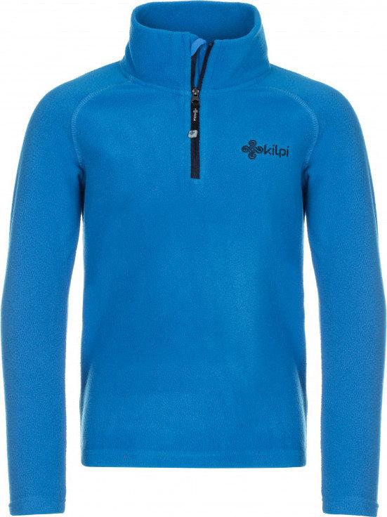 Modrá dětská lyžařská mikina bez kapuce Kilpi