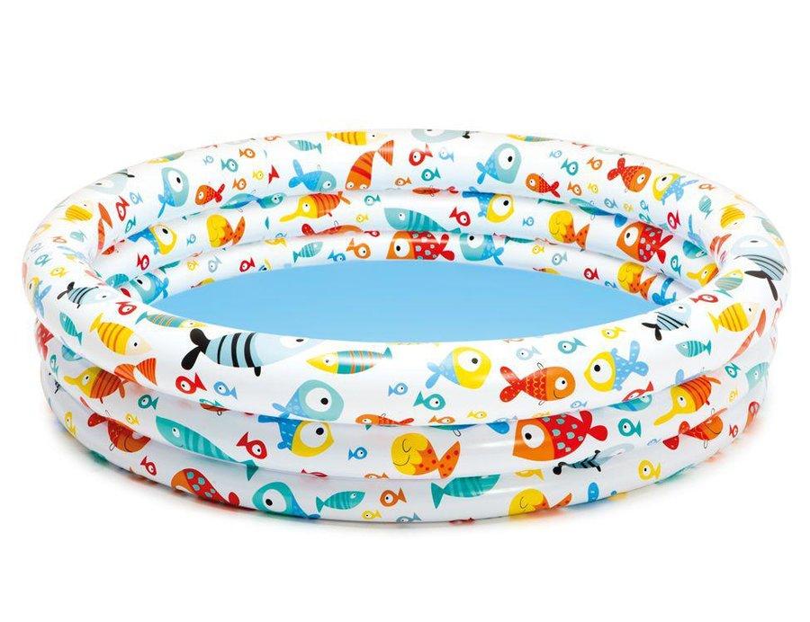 Dětský nafukovací nadzemní kruhový bazén INTEX - průměr 132 cm a výška 28 cm