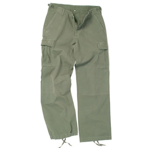Kalhoty - Kalhoty dámské US BDU rip-stop předeprané ZELENÉ