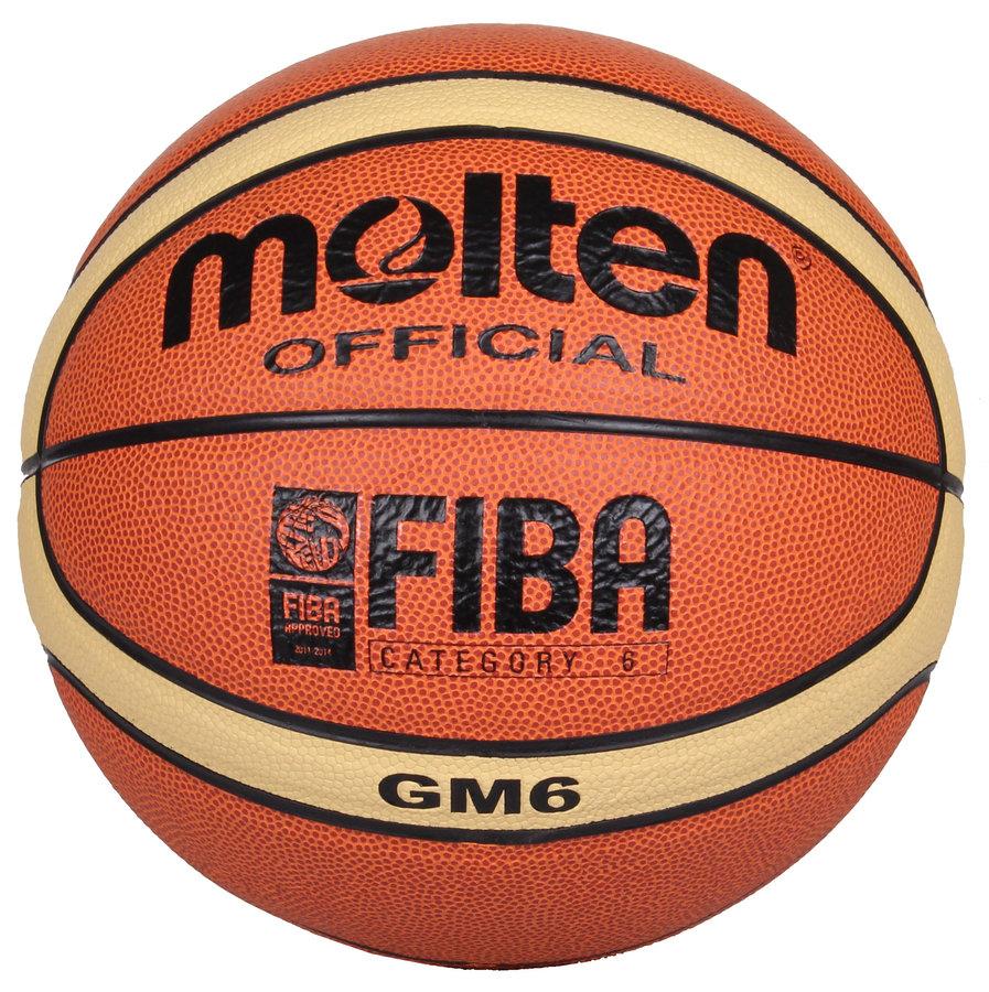 Oranžový basketbalový míč BGM6, Molten - velikost 6