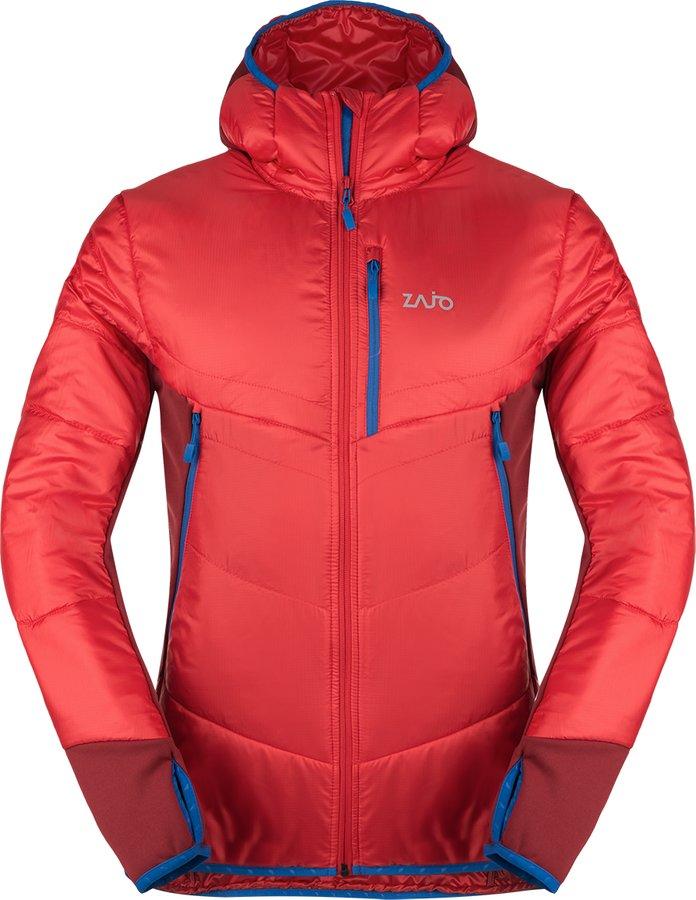 Červená zimní pánská bunda s kapucí Zajo - velikost L