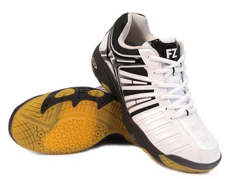 Bílo-černé pánské sálová obuvi Leander, FZ Forza