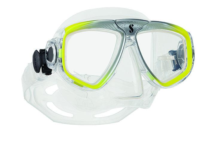 Potápěčská maska - Maska potápěčská Zoom Evo Scubapro - žluto/stříbrná - čirá