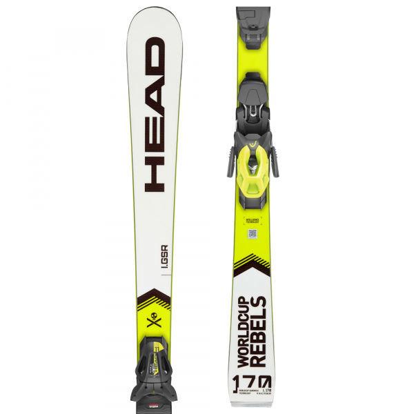 Bílo-žluté lyže s vázáním Head
