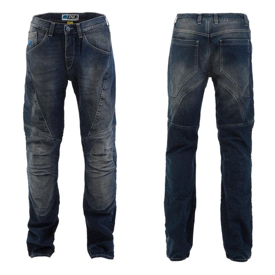 Modré pánské motorkářské kalhoty Dallas, PMJ Promo Jeans