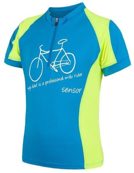 Modro-žlutý dětský cyklistický dres Sensor - velikost 150