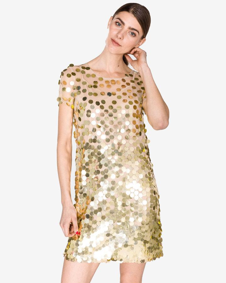 Zlaté dámské šaty French Connection