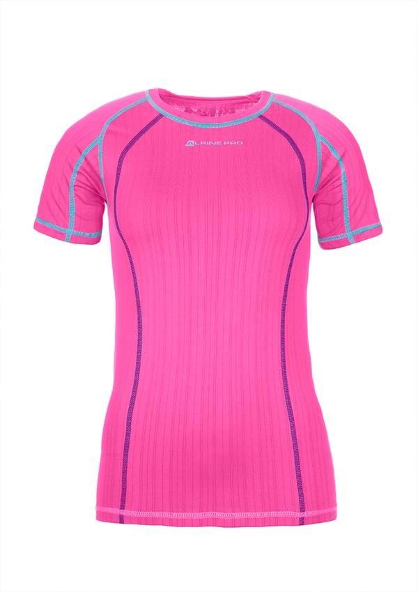 Růžové dámské funkční tričko Alpine Pro - velikost XS