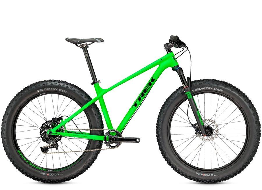 Zelené horské kolo Trek